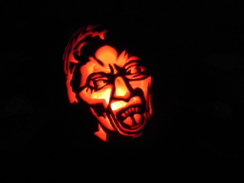 Doctor Who Weeping Angel Pumpkin