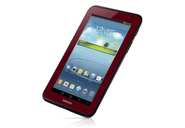 red galaxy tab 2