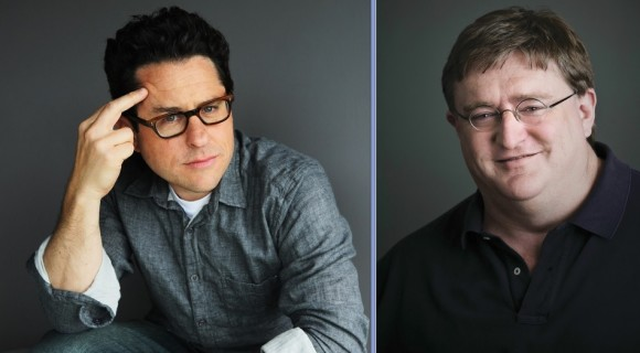 Gabe Newell and JJ Abrams