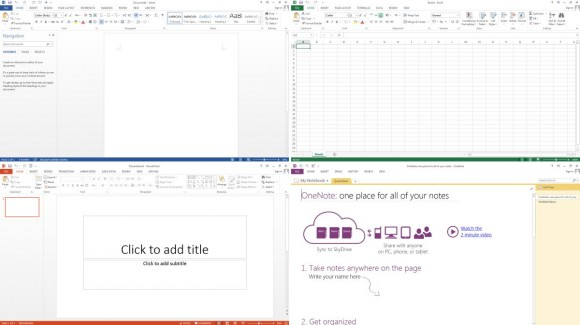 Microsoft Office 2013 apps