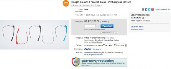Google Glass auction