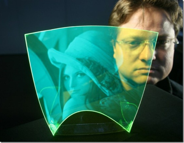 Future technology Concept the flexible sensor in the form of a film